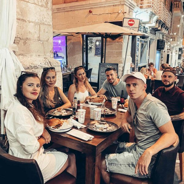 Večera v hlavnom meste Valletta